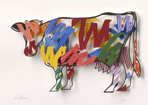 David Gerstein BRUSH STROKES COW