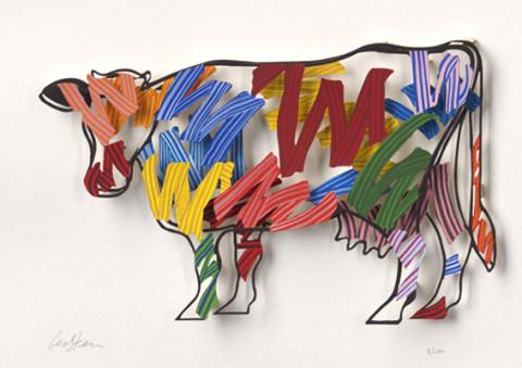 David Gerstein BRUSH STROKES COW