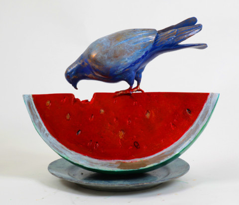 David Gerstein PIGEON TASTING WATERMELON
