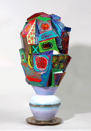 David Gerstein CUBIST FLOWER VASE