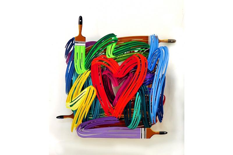 David Gerstein - Graffiti Heartist - Wall Sculpture